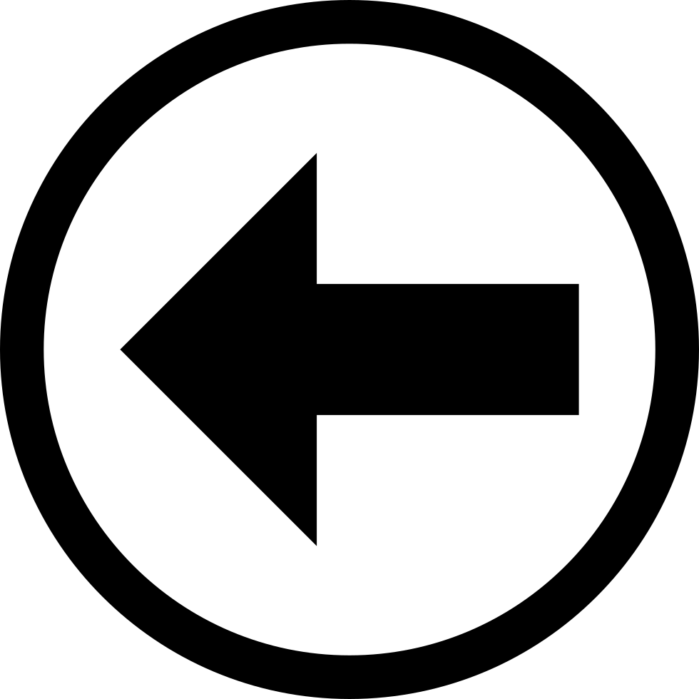 Arrow Pointing Left In A Circle