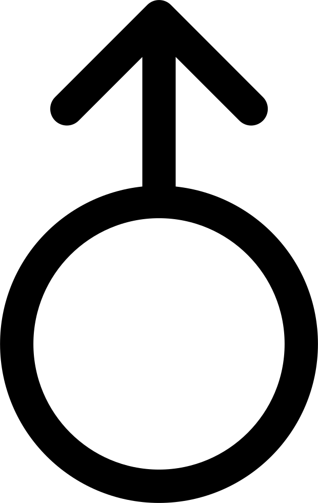 Circle Outline With An Arrow Pointing Up