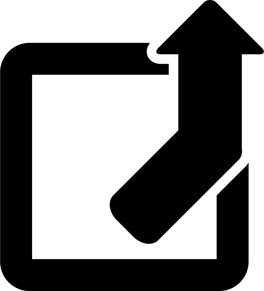 Square Outline With Up Arrow