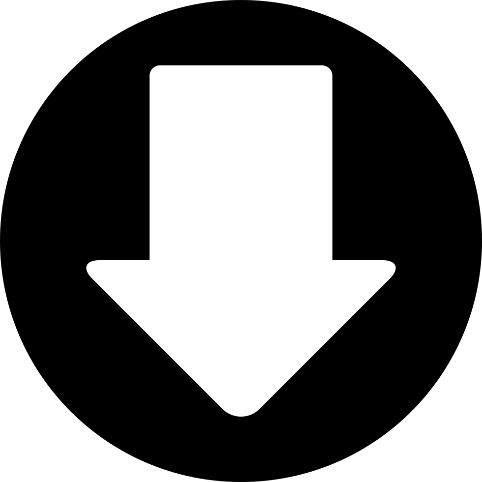 Down Arrow In A Circle