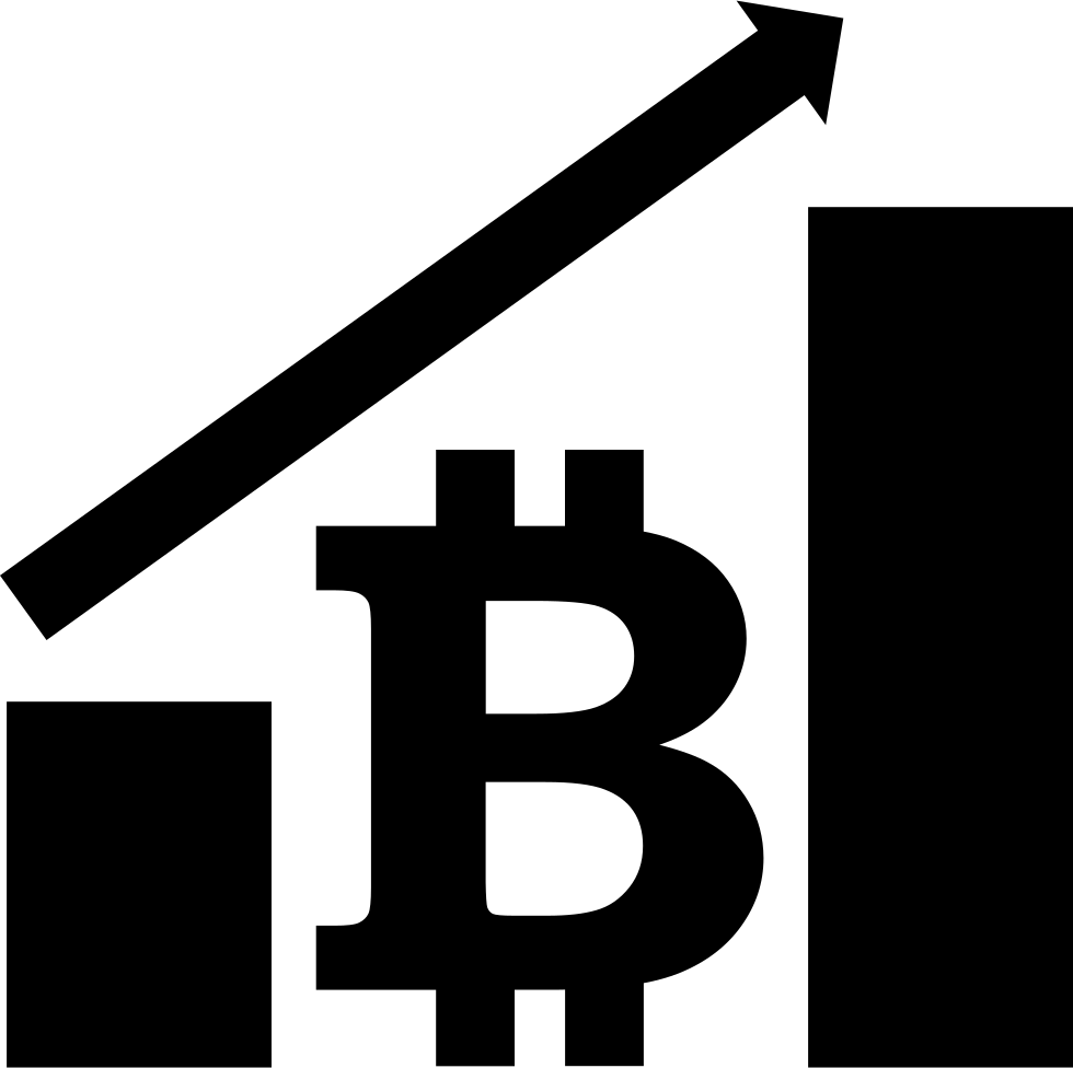 Bitcoin Graphic With Up Arrow