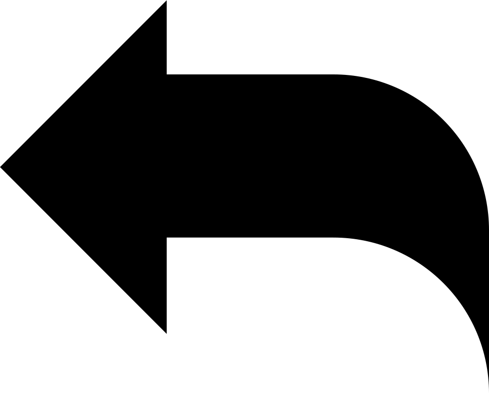 Reply Black Left Arrow Interface Symbol