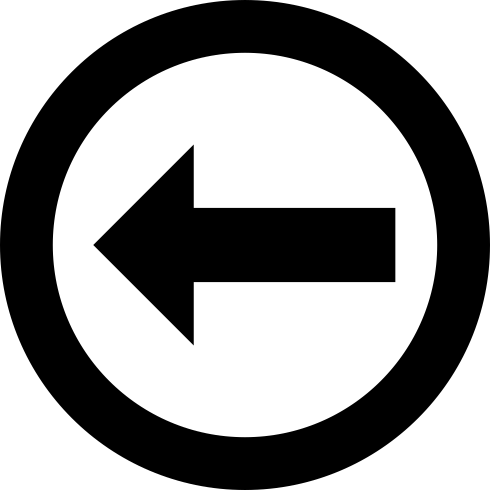 Left Arrow Inside A Circle