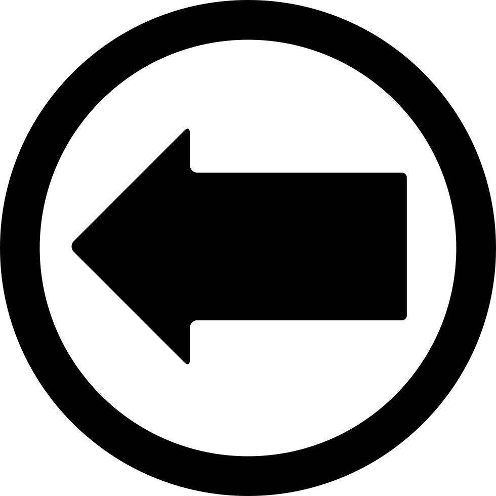 Left Arrow In A Circle Outline
