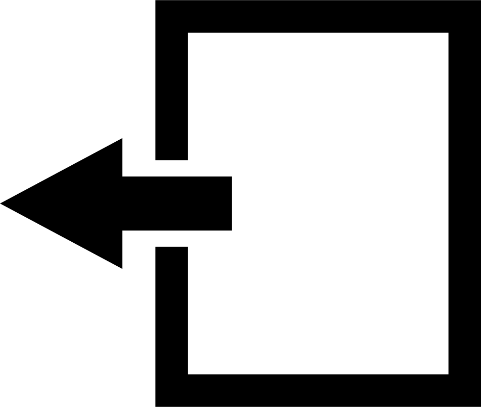 Transfer Data Interface Symbol Of Left Arrow On A Paper Sheet