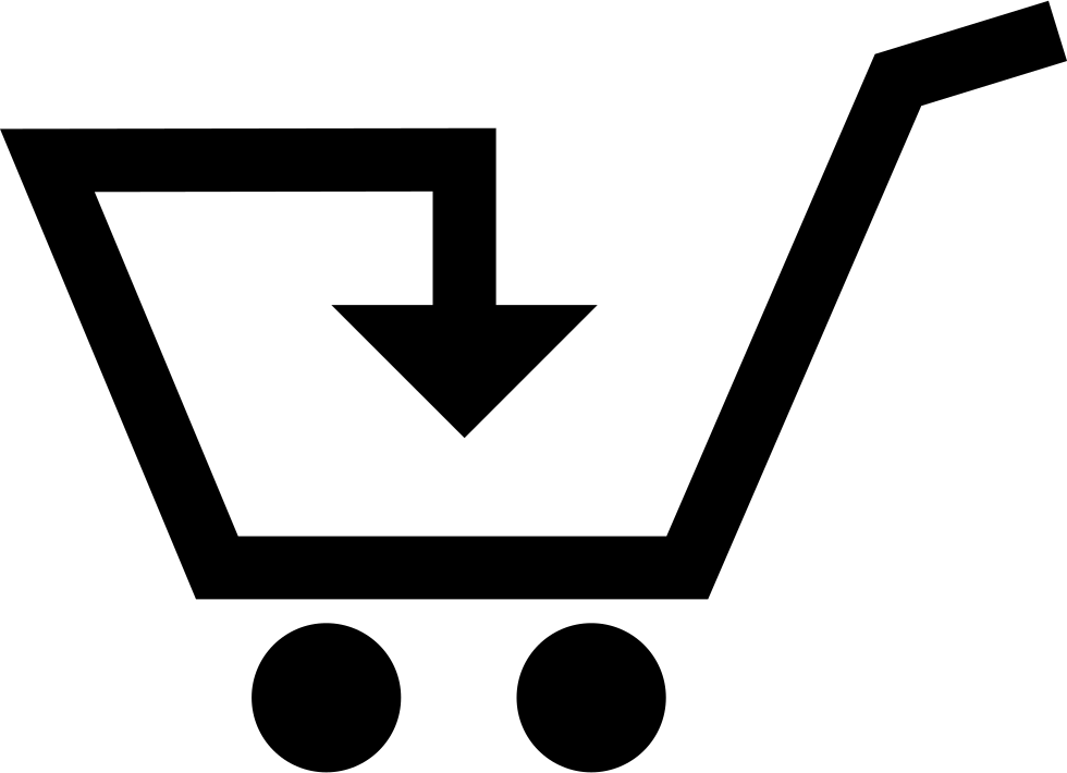 Money Trolley With Down Arrow