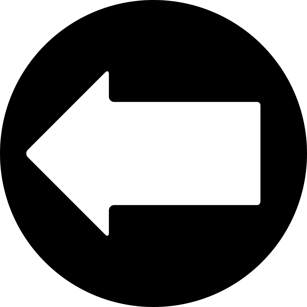 Left Arrow In A Circle