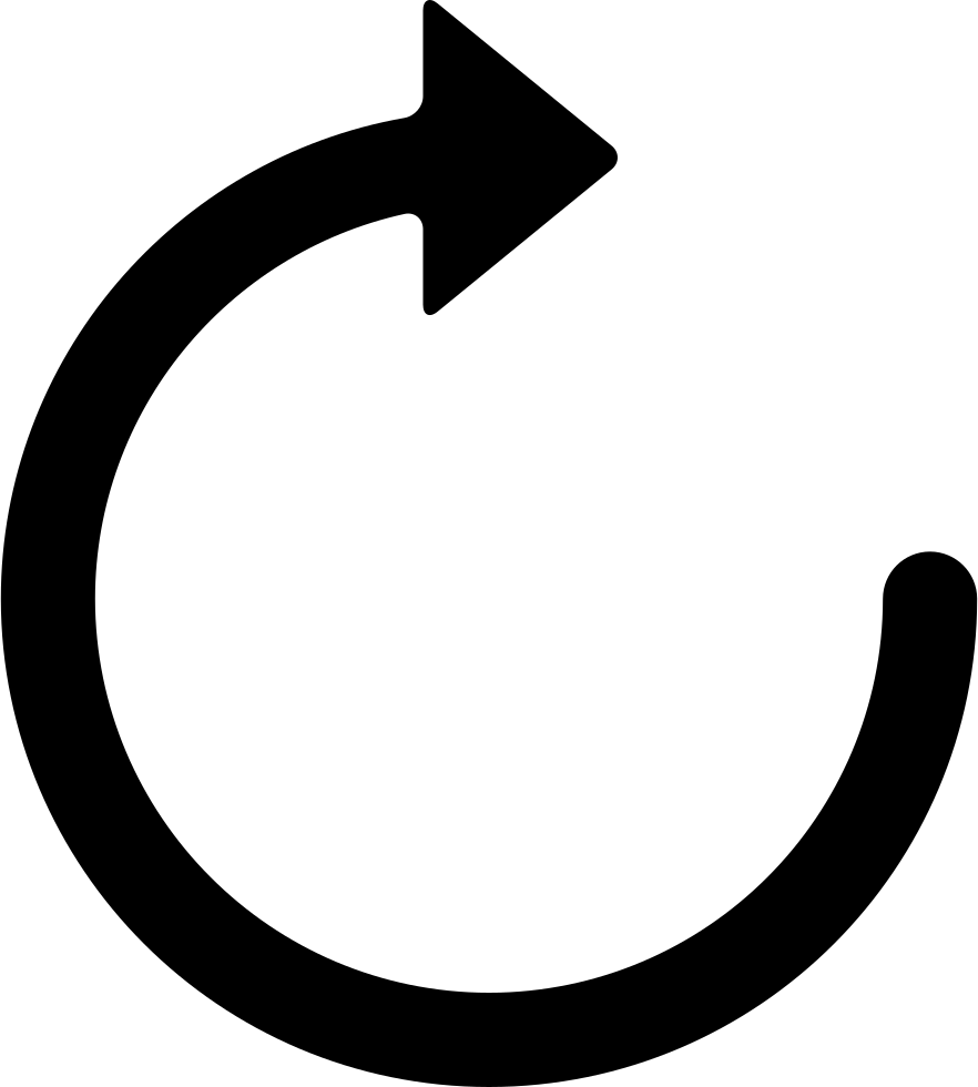 Circular Arrow Pointing To Right
