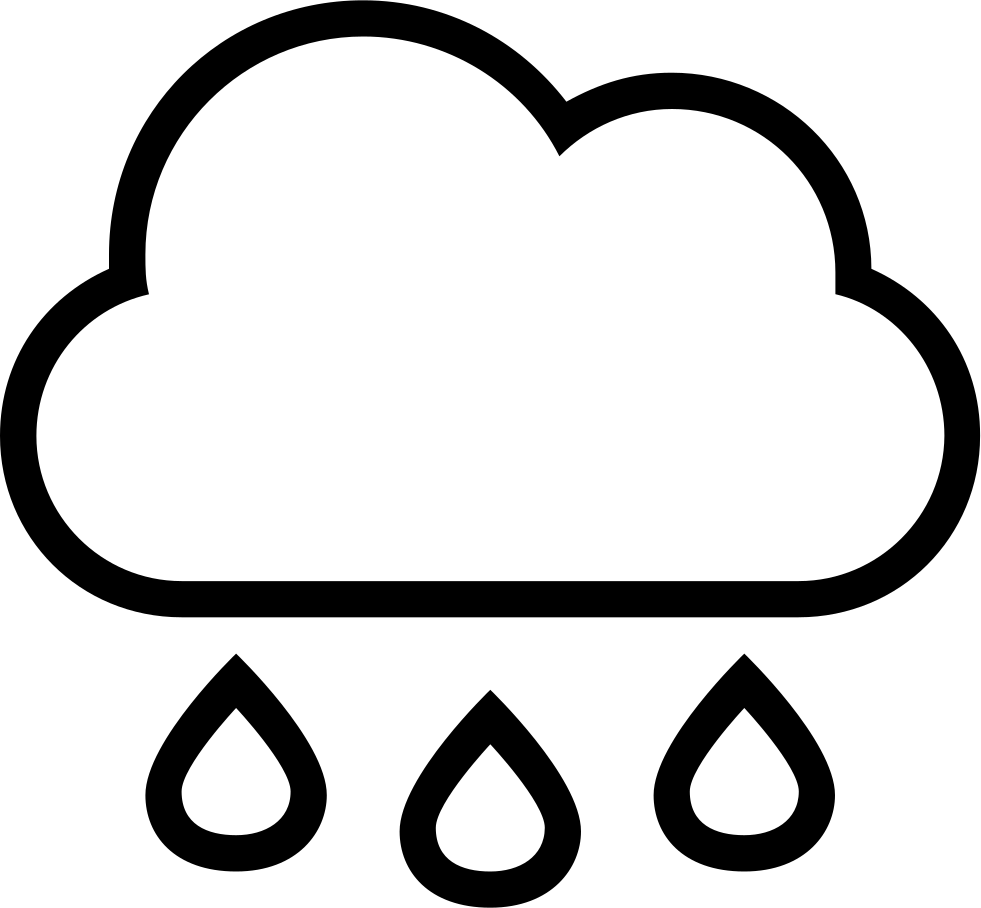 rain cloud with drops falling weather stroke interface