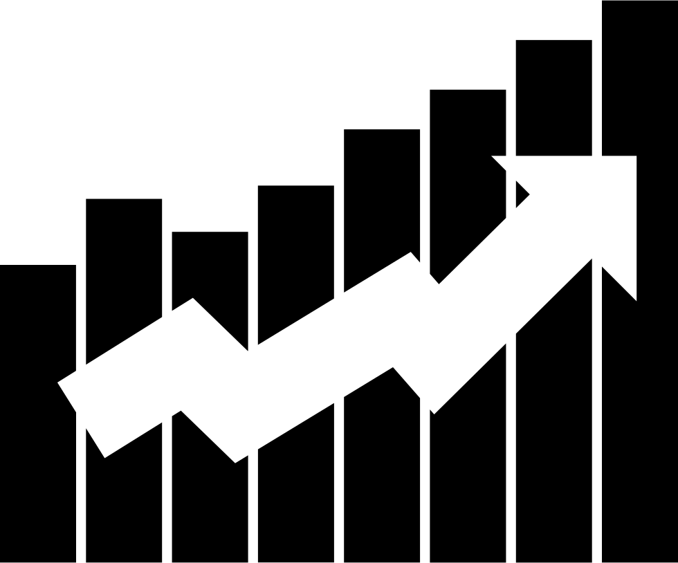 Up Arrow On Bars Graphic