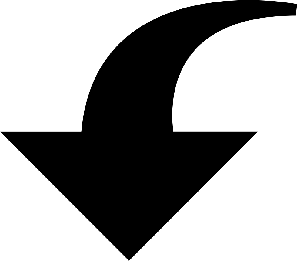 Downwards Curved Arrow
