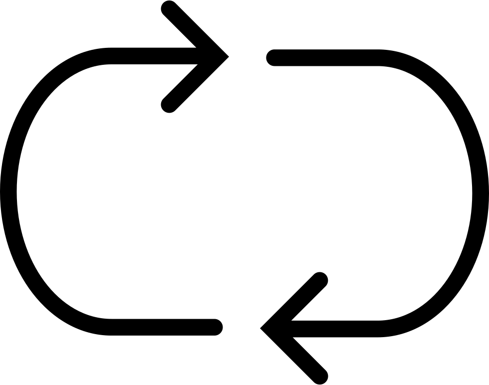 Connecting Rotated Left And Right Arrows