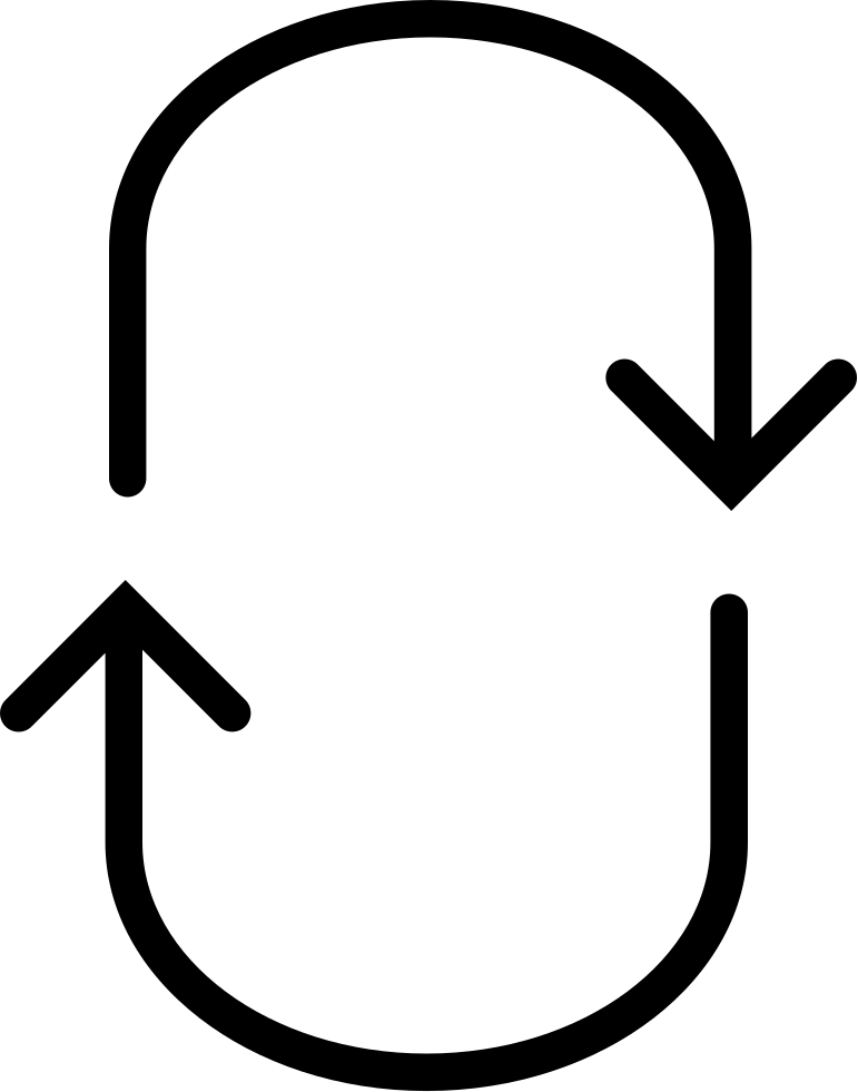 Arrows Curves Forming An Oval Shape