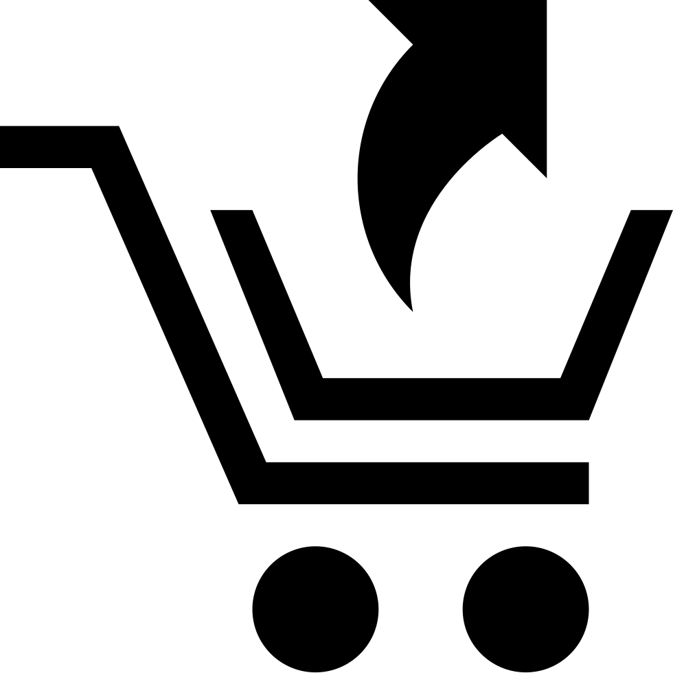 Shopping Cart With An Up Arrow