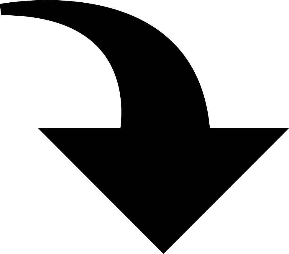 Curved Down Arrow