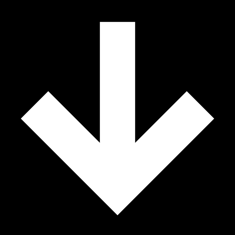 Down Arrow In Square Button