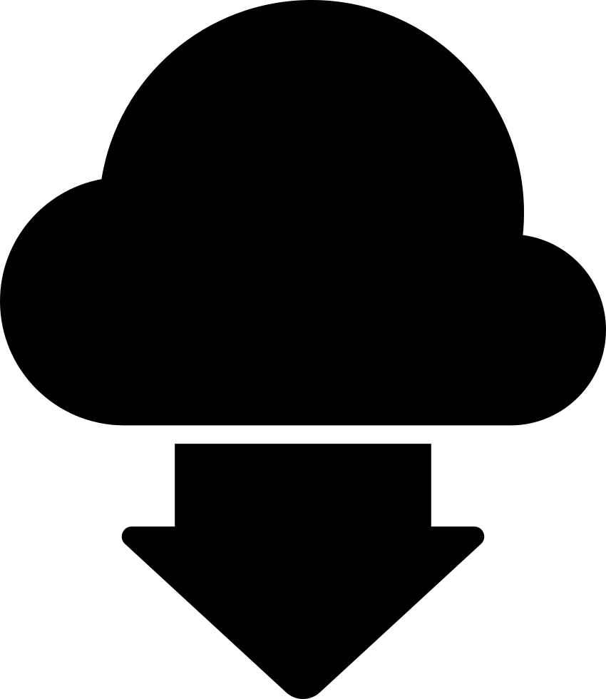 Download Black Symbol Of A Cloud And Down Arrow