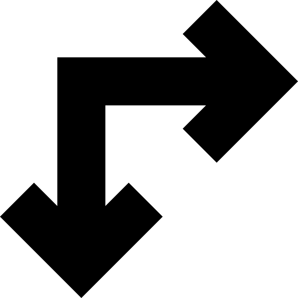 Right And Down Arrows Of Straight Angle