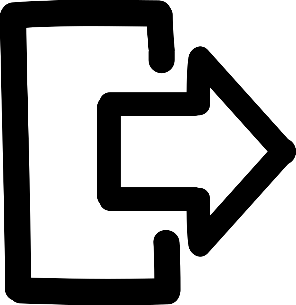 Exit Hand Drawn Interface Symbol