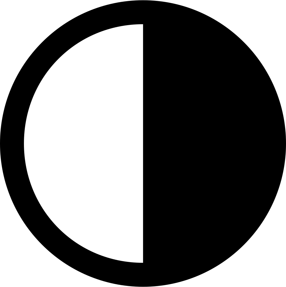 Half Moon Phase Circular Weather Symbol