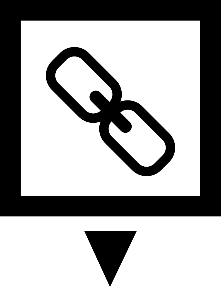 Link Symbol In A Square With Down Arrow
