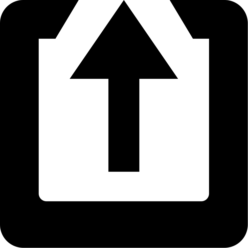 Up Arrow In A Square
