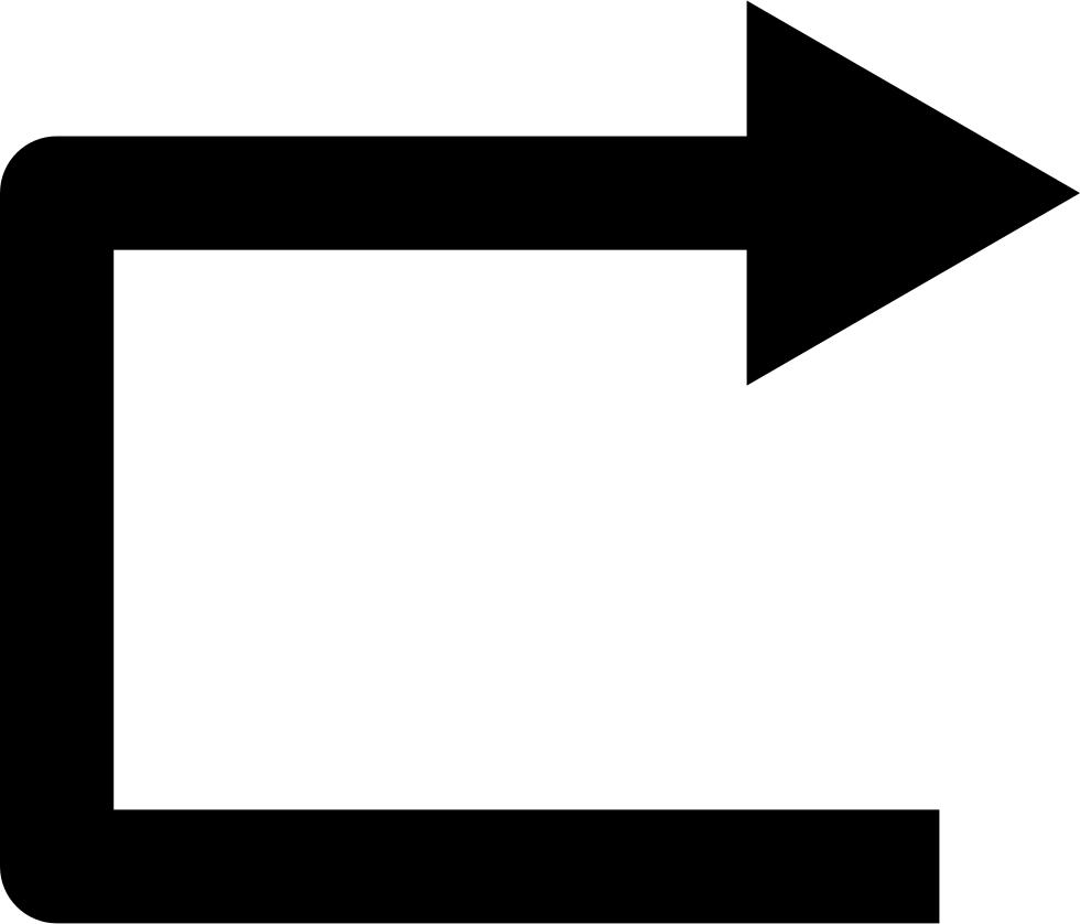 Right Straight Arrow Angle Symbol