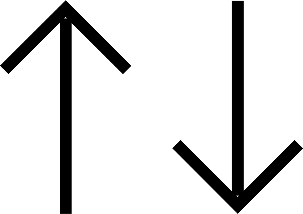 Up And Down Straight Arrows