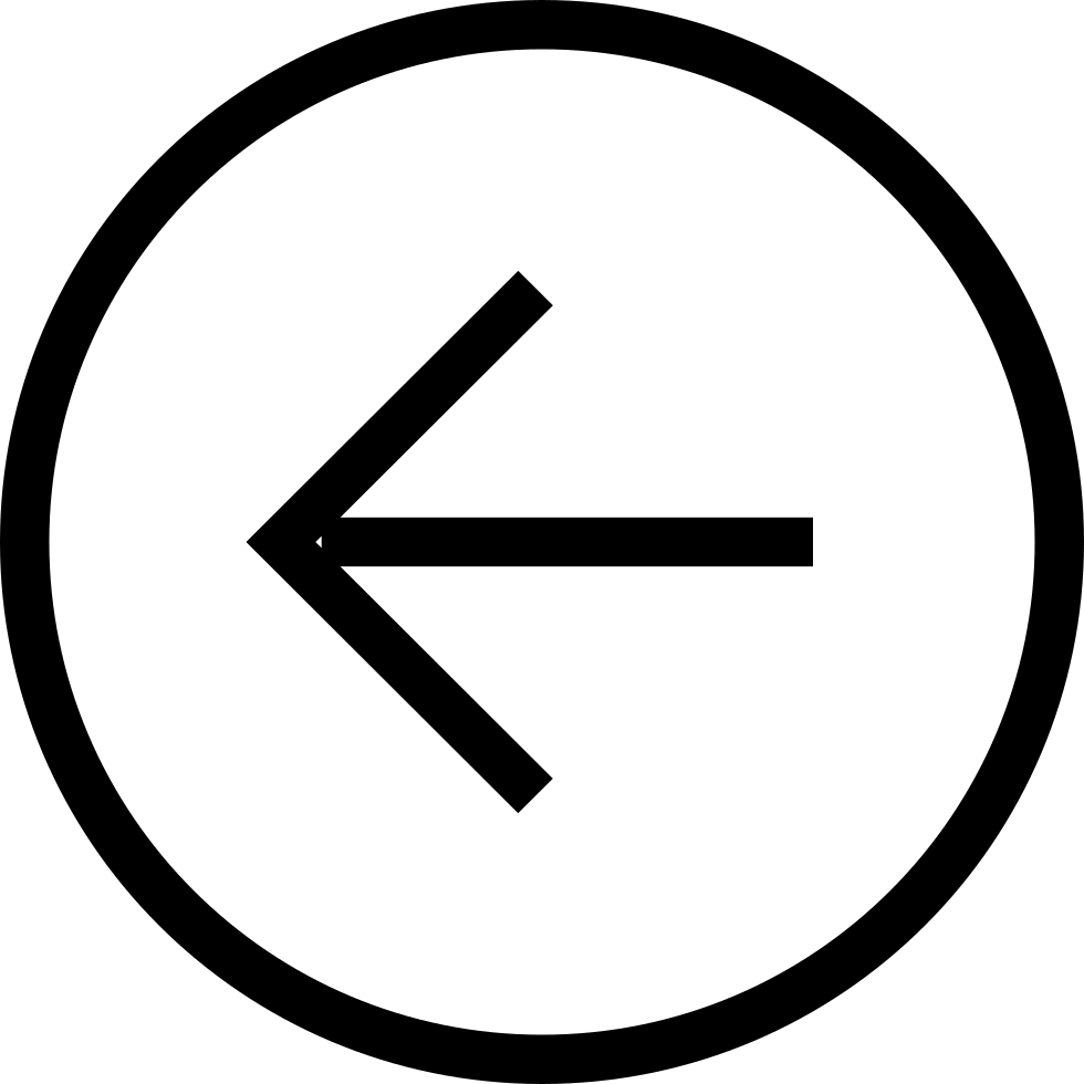 Back Button Circular Left Arrow Symbol
