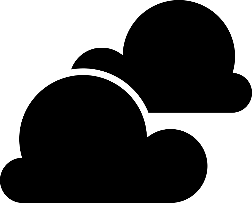 Two Black Stormy Clouds Symbol Of Weather