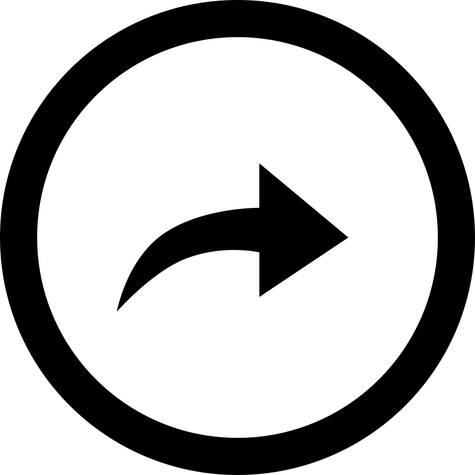 Curved Right Arrow In Circular Button