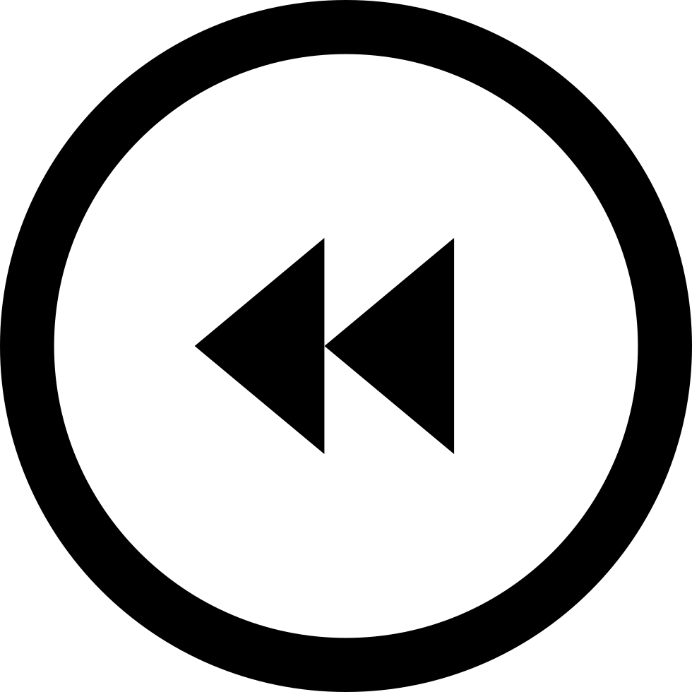 Backward Circular Multimedia Button