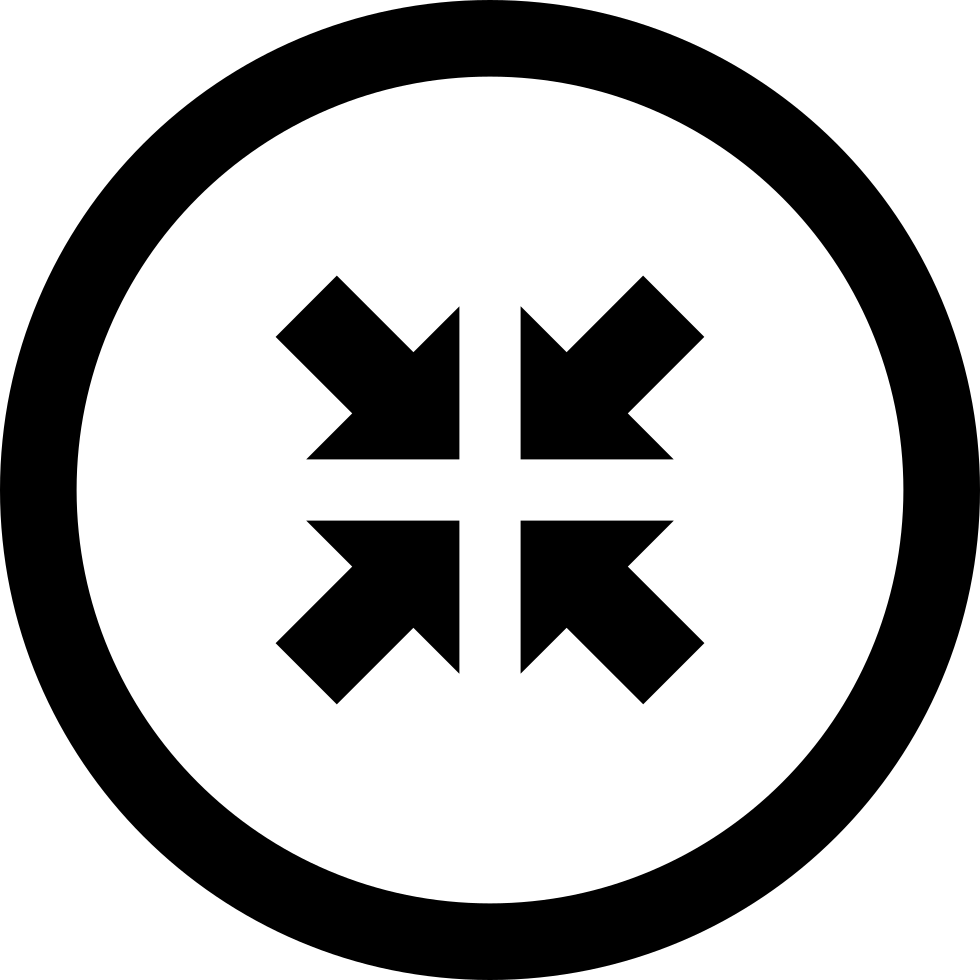Contract With Four Arrows In Circular Button