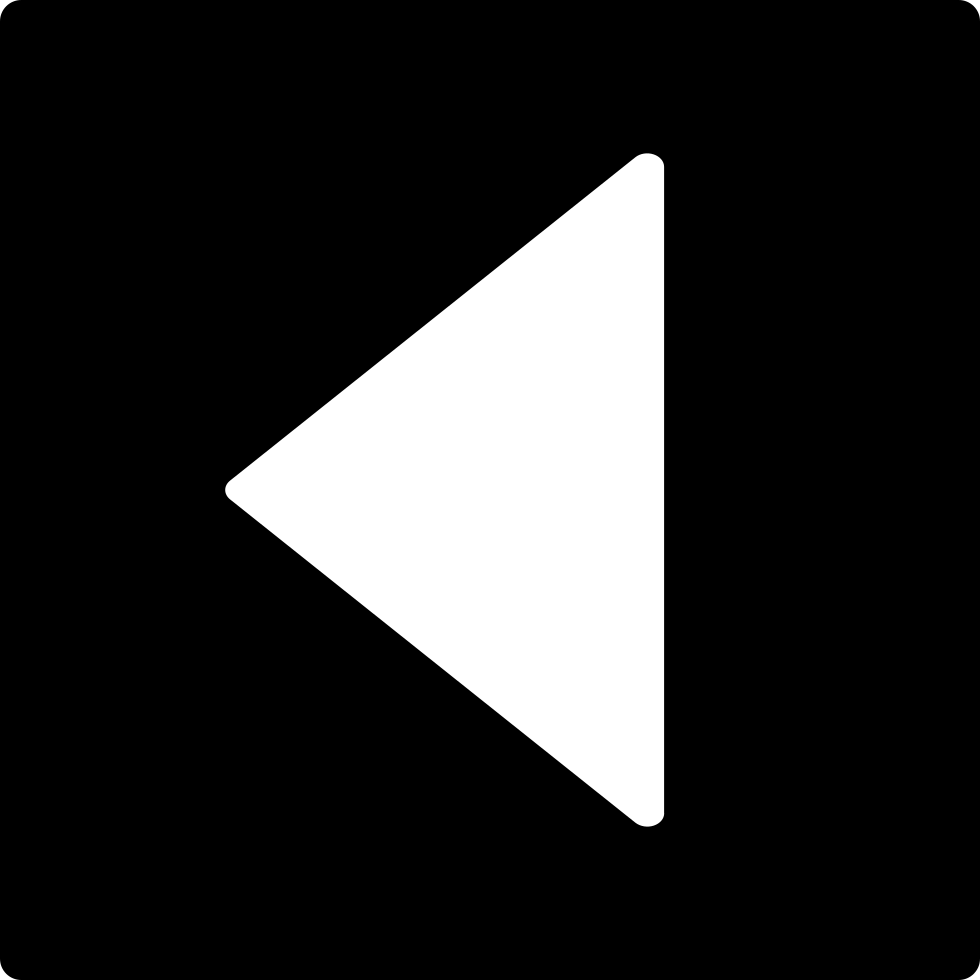 Back Triangular Left Arrow In Square Filled Button