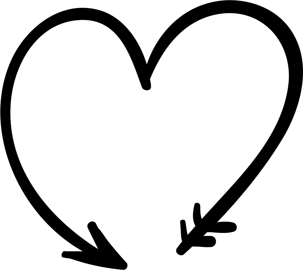 arrow forming a heart svg png icon free download 71772. Black Bedroom Furniture Sets. Home Design Ideas