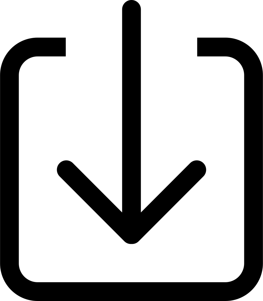 Down Arrow To A Square
