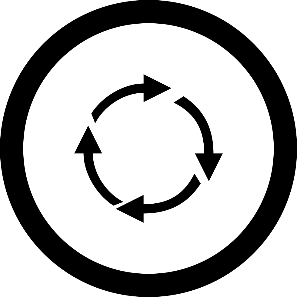 Arrow Cycling Symbol In A Circle