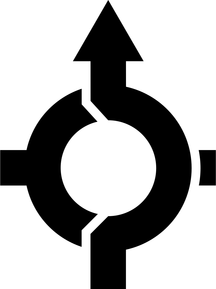 Road Circular Turning Point