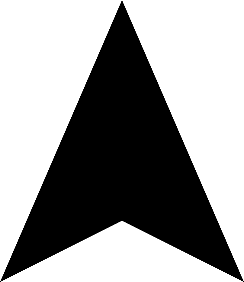 Walking Triangular Arrow Interface Symbol