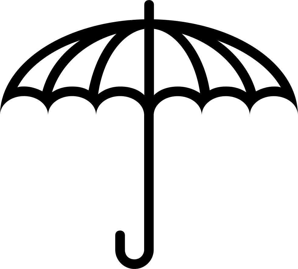 Umbrella Outlined Opened Tool Symbol
