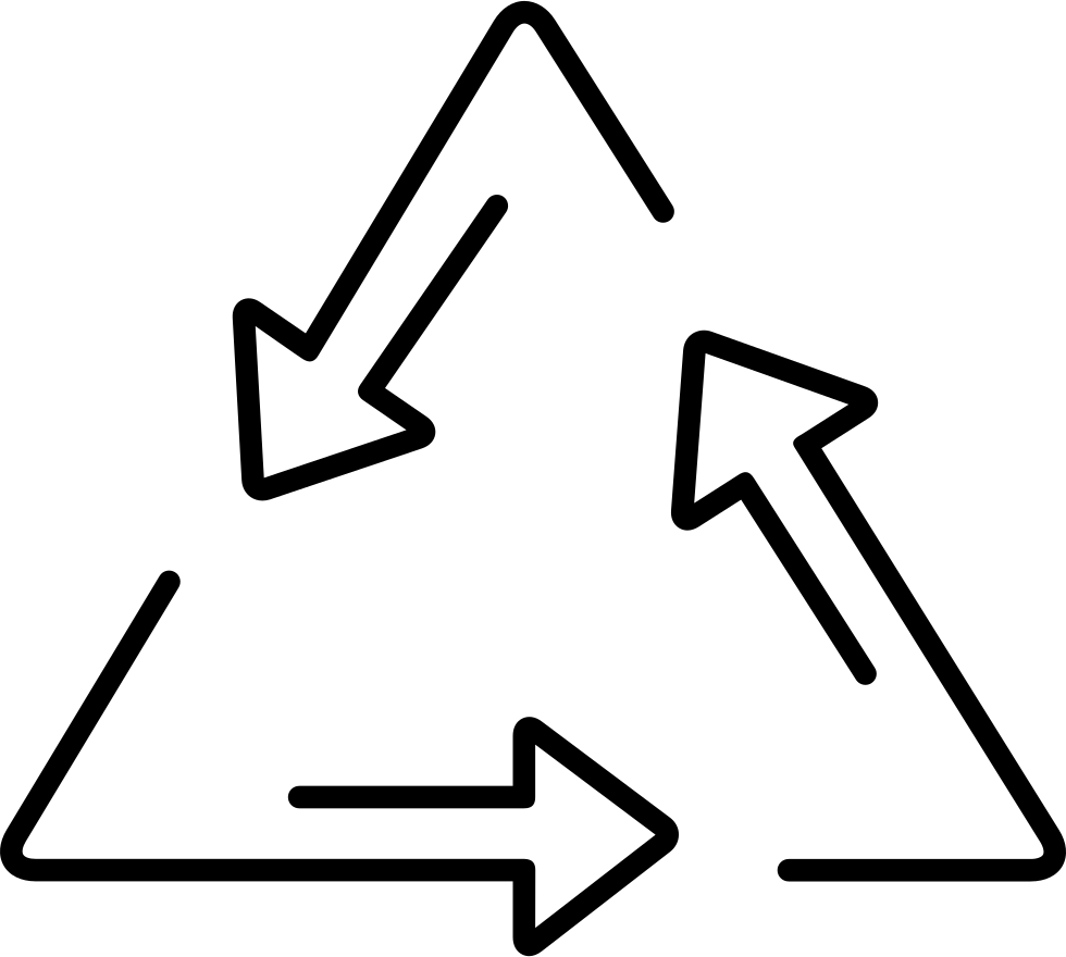 Recycle Triangle Of Three Arrows Outlines