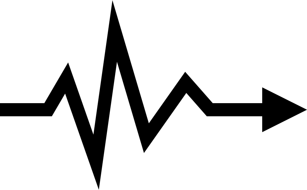 heartbeat lifeline arrow symbol svg png icon free download