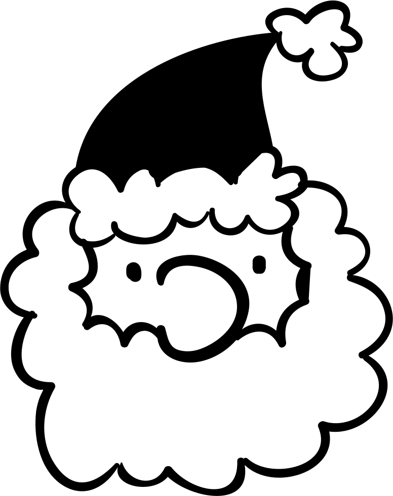 Santa's Head Wirh Curly Beard