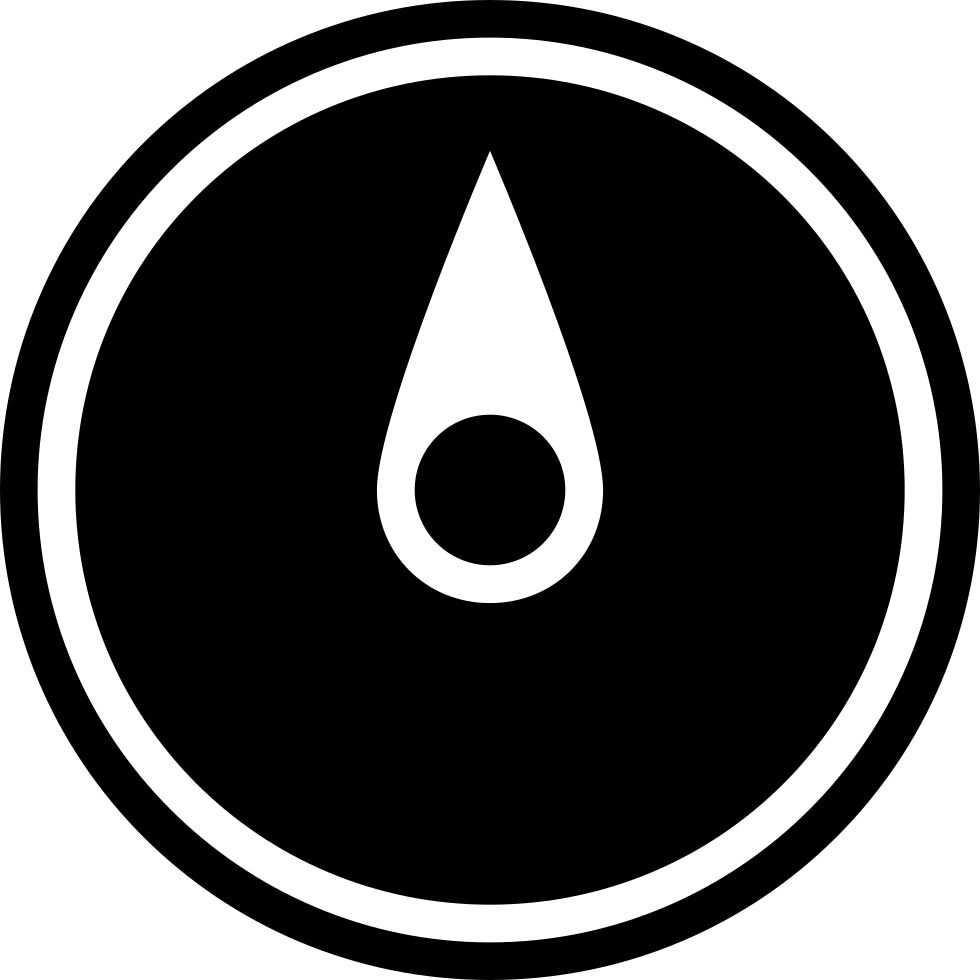 Compass Pointing To North Black Circular Symbol