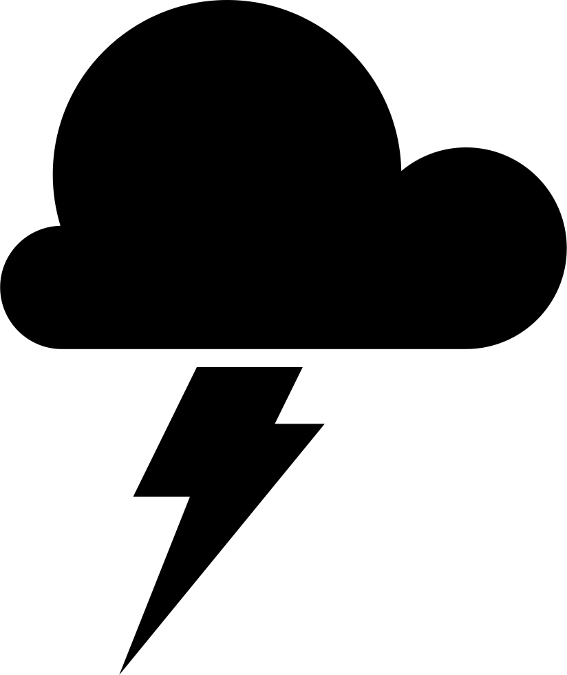 Storm Weather Symbol Of A Dark Cloud With A Lightning Bolt