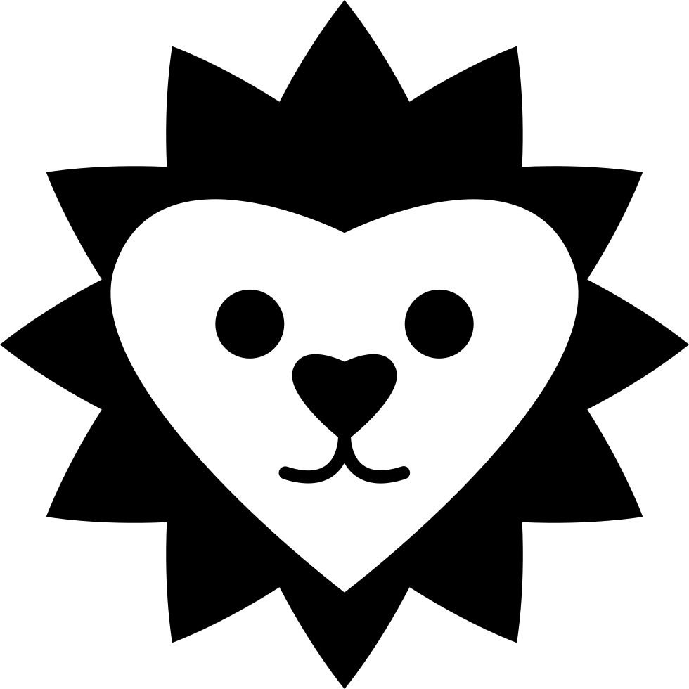 Heart Shaped Lion Face
