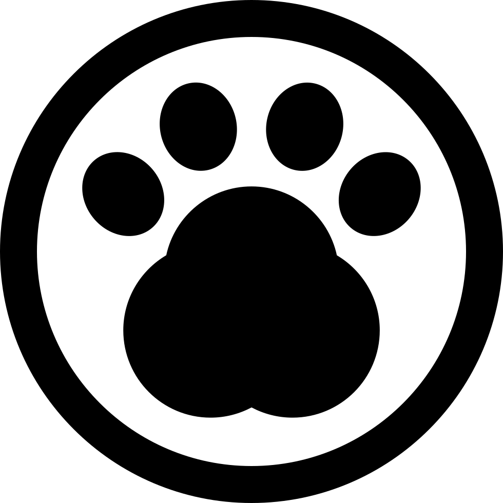 Pawprint In A Circle Of Pet Hotel Sign