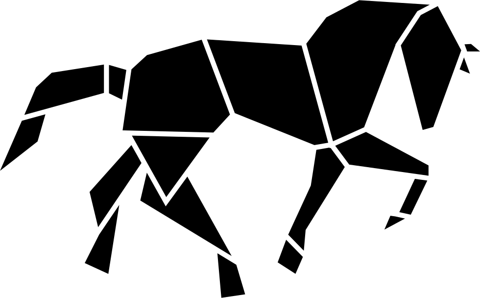 Horse Black Shape Of Polygons