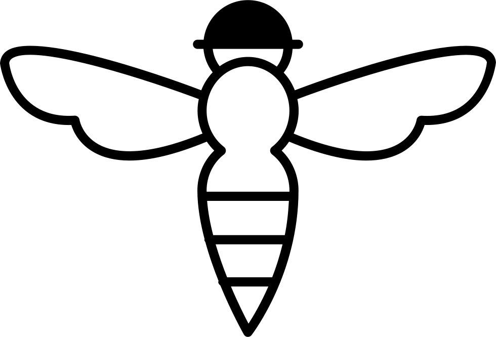 Bee With Sting Outline