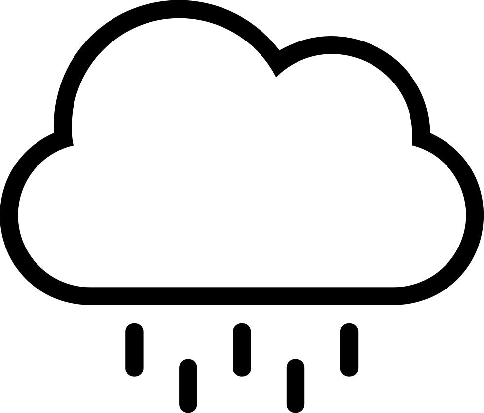 rain cloud stroke weather symbol svg png icon free